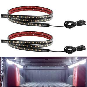 Truck Bed Lights Strip Kit 2 Piece 60 White Waterproof Led Lighting Tailgate