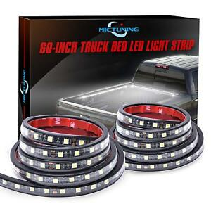 2pcs 60 White Led Cargo Truck Bed Light Strip Lamp Waterproof Lighting Kit