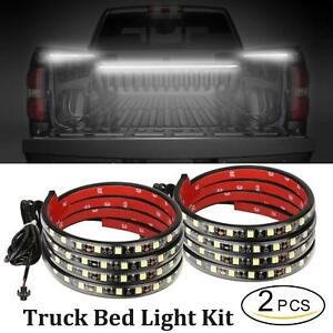 60inch Led Truck Bed Lights 2pcs White Truck Bed Strip Kit Waterproof Bar Switch