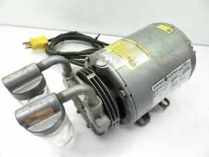 Gast Pump With General Electric Motor Ge 5kh33dn16x 1 6 Hp Compressor used Teste