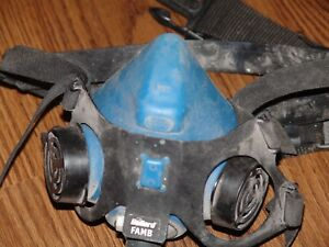 Bullard Famb Half mask Respirator Medium With Belt And Hose Read And See Photos