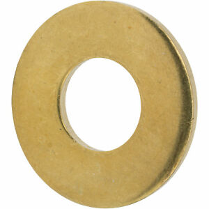 2 Solid Brass Flat Washers Commercial Standard Grade 360 Qty 100