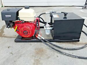 Honda Gasoline Power Engine Hydraulic Unit Pto Hydraulic Crane 16 Gpm Pump 2500