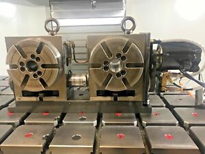 4th Axis Haas Rotary Table 2013 Hrt 160 2 W Twin 6 3 Rotary s On Platform