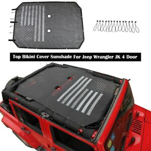 Mesh Car Sunshade Bikini Top Net Cover For Jeep Wrangler Jk Jku 4dr Accessories