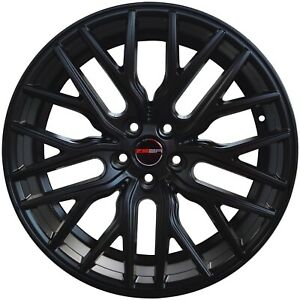 4 Flare 20 Inch Black Laser Mill Rims Fits 5x114 3 Ford Mustang Cobra R 2000