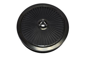 High Flow Replacement Air Cleaner Assembly W Flow Thru Lid Air Filter Black