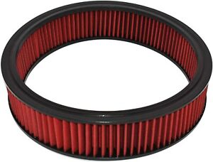 High Flow Washable Reusable Round Air Filter Element Replacement 14 X 3 Red