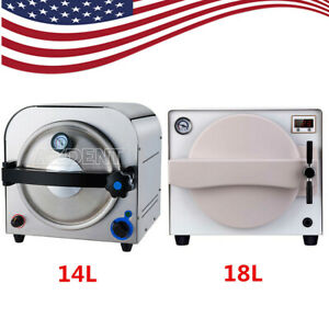 Usps 18l Dental Steam Autoclave Sterilizer Medical Sterilization Lab Equipment