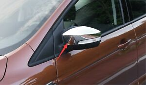 Chrome Exterior Side Rearview Mirror Cover Trim For Ford Kuga Escape 2013 2017