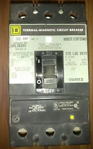 Square D 200 Amp 3 Pole Thermal magnetic Circuit Breaker