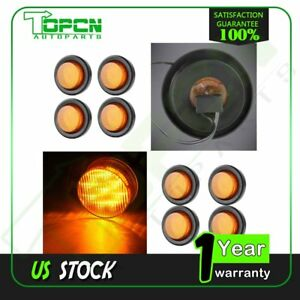 8 2 Trailer Clearance Light Side Marker With Grommet pigtail 12v Waterproof
