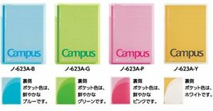 Kokuyo Campus Cover Note Print Receiving Pocket With Roh 623a 4 color Set F s