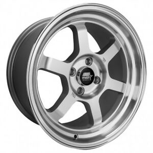 Mst Time Attack 16x8 20 4x100 Full Silver Machined Finish set Of 4
