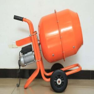 140l Portable Cement Mixer Concrete Electric Construction Sand Building 110v