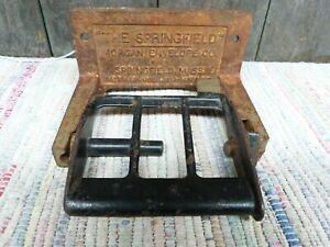 Vintage Antique Industrial Toilet Paper Holder The Springfield Cast Iron
