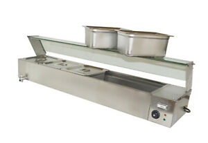 5 pans Large Capacity Bain Marie Counter Top Food Warmer 110v1500w