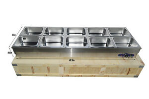 10 pan Hot Well Steam Table Food Warmer Restaurant Stainless Steel 10pans