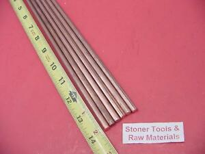6 Pieces 1 4 C110 Copper Round Rod 14 Long H04 250 Cu New Lathe Bar Stock