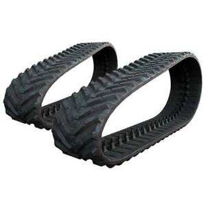 Pair Of Prowler New Holland C185 Snow And Mud Rubber Tracks 450x86x55 18