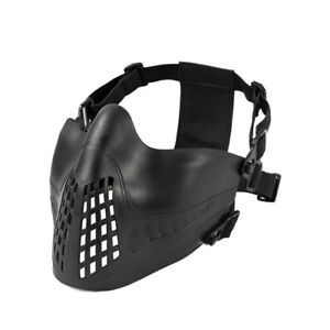 OneTigris Tactical Half-face Mask Compatibility With FAST Helmets for Paintball