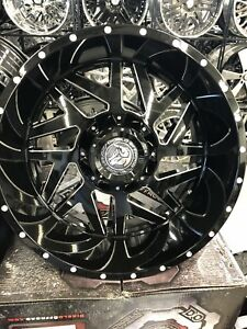 22x12 Offroad Diablo On 33 12 50r22 Satin Black Wheels With Off Road Tires