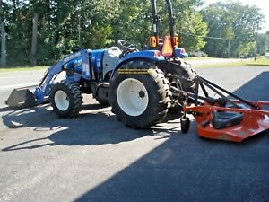 2014 New Holland Boomer 41 4 Wd Tractor 3 Range Hydro W Nh Loader 344 Hrs