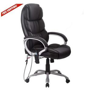 Adjustable Office Massage Chair Vibrating Computer Desk Chair W Arm Rests Us