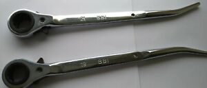 Scaffold 2 Flat Spanner Ratchet Podger Steel Wrench 19 21mm Scaffolders Tools