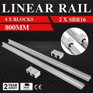 Sbr16 800mm 2x Linear Rail Set 4x Bearing Block Routers Smooth Sliding High Load