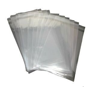 500 Pcs 6x9 Clear Resealable Poly Cellophane Cello Bopp Bags Sleeves