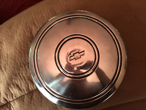 Vintage Chevy Dog Dish Poverty Hub Caps 60 s