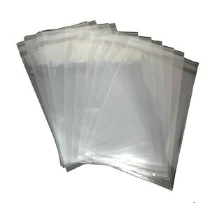 200 Pcs 9x12 Clear Resealable Poly Cello T shirt Magazing Storage Bags