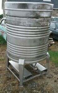 280 Gallon Stainless Steel Tank Liquid Beer Wine Water Juice Bio Diesel