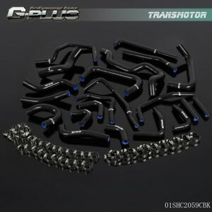 Silicone Ancillary Hose Kit Black For Toyota Mr2 Turbo 2 0l 3sgte Rev2 Lhd 91