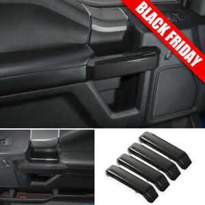 Carbon Fiber Truck Interior Decor Door Handle Cover Trim For Ford F150 2015 2019