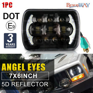 85w H4 5x7 7x6 Led Headlights Hi lo Beam Drl Replacement Jeep Cherokee Xj