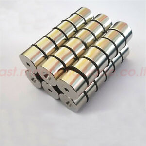 Lots 25mm X 15mm Hole 6mm Disc Super Strong Round Rare Earth Magnets N50