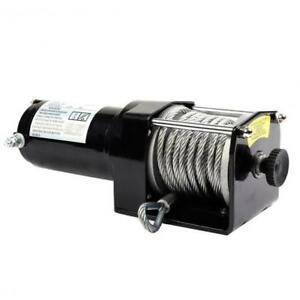 Electric Winch 3000 Lb Remote 12v Hoist Control Atv Lift Trailer Wire Cable Rope