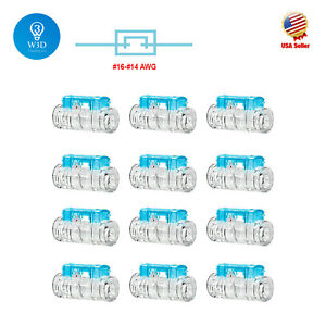 12pcs Straight Joint Stripping free Quick Splice Wire Connectors 16 14 Terminals