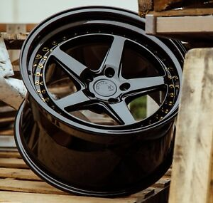 Aodhan Ds05 18x9 5 5x114 3 30 Gloss Black Set Of 4