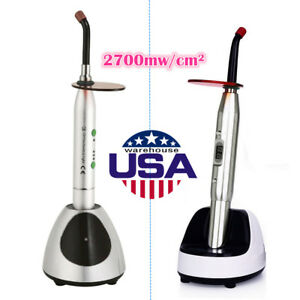 Usa Warehouse Dental Wireless Led Curing Light Full Metal Fuselage 2700mw c