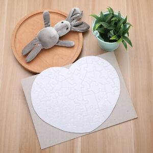 White Sublimation Blank Heart shape Jigsaw Puzzle Diy Heat Press Transfer Crafts