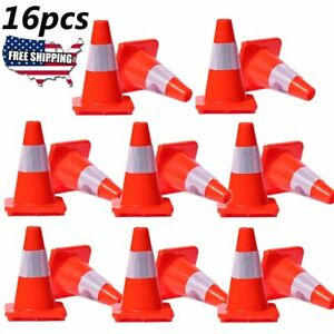 16 X 18 Traffic Cones Overlap Parking Construction Emergency Road Safety Cone X
