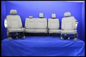 2015 2016 Ford F150 Pickup Truck Front Seat Bench 40 20 40 Cloth Rear Oem