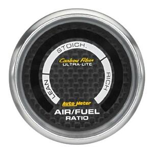 Auto Meter Ultra Lite Carbon Fiber Narrow Band Air Fuel Afr Gauge 52mm 2 1 16