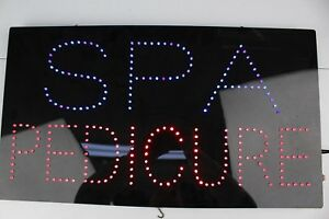 Led spa Pedicure Sign With Animation Used