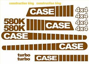 Case 580k 4x4 Loader Backhoe Construction King Decals Sticker Set Standard