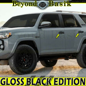 2010 2019 Toyota 4runner Gloss Black Door Handle Covers Overlays Trims W O Smart