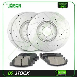 For 94 95 Honda Civic 93 97 Del Sol Front Rear Brake Rotors And Ceramic Pads